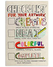 Teacher Check- List For Your Artwork 11x17 Poster front