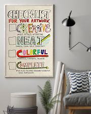 Teacher Check- List For Your Artwork 11x17 Poster lifestyle-poster-1