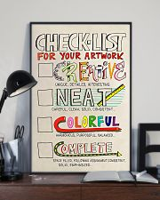 Teacher Check- List For Your Artwork 11x17 Poster lifestyle-poster-2