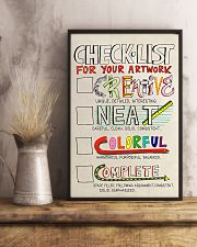 Teacher Check- List For Your Artwork 11x17 Poster lifestyle-poster-3