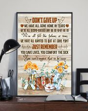 Nurses Don't Give Up Just Remember 11x17 Poster lifestyle-poster-2