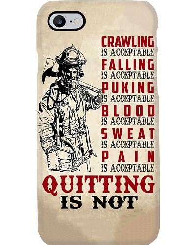 Firefighter Quitting Is Not