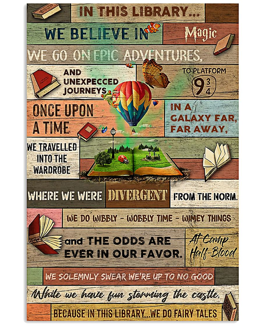 Librarian In This Library We Do Fairy Tales 11x17 Poster