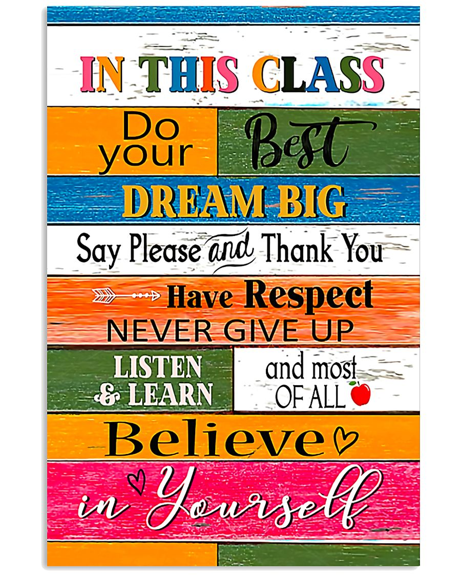 Inspiration For Student Teacher  11x17 Poster