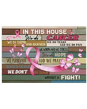 Breast Cancer In This House We Do  17x11 Poster front