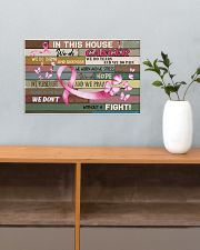 Breast Cancer In This House We Do  17x11 Poster poster-landscape-17x11-lifestyle-24