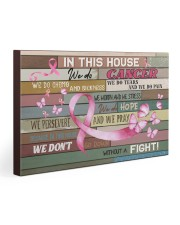 Breast Cancer In This House We Do  30x20 Gallery Wrapped Canvas Prints thumbnail