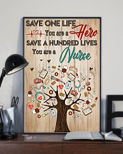 Save A Hundred Lives You Are A Nurse 11x17 Poster lifestyle-poster-2