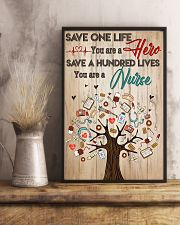 Save A Hundred Lives You Are A Nurse 11x17 Poster lifestyle-poster-3