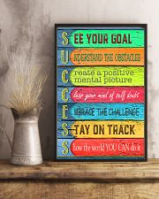 Teacher See Your Goal  11x17 Poster lifestyle-poster-3