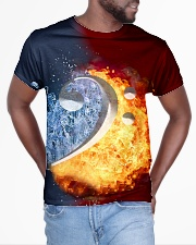 Contrabass Fire and Water F-clef All-over T-Shirt aos-all-over-T-shirt-lifestyle-front-04