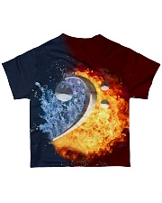 Contrabass Fire and Water F-clef All-over T-Shirt back