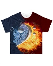 Contrabass Fire and Water F-clef All-over T-Shirt front