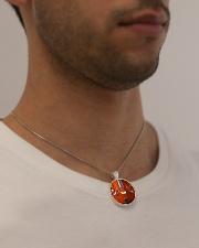 Unique Cello Metallic Circle Necklace aos-necklace-circle-metallic-lifestyle-2