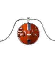 Unique Cello Metallic Circle Necklace front