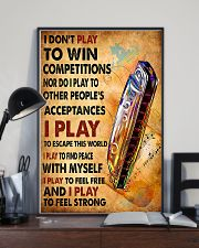 Harmonica I play to feel strong  11x17 Poster lifestyle-poster-2