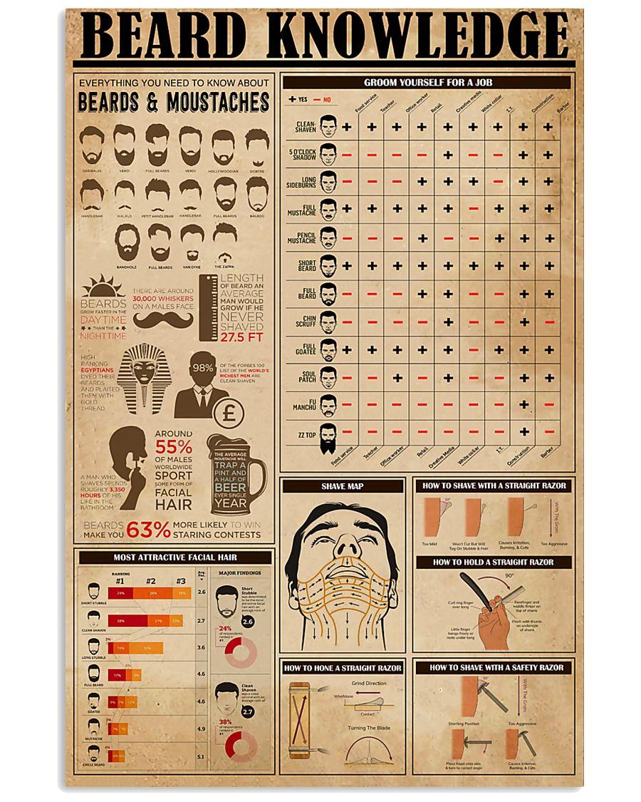 Hairdresser Beard Knowledge 11x17 Poster