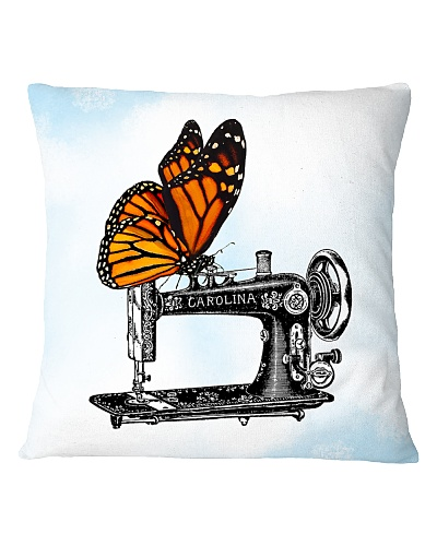 Butterfly And Vintage Sewing Machine