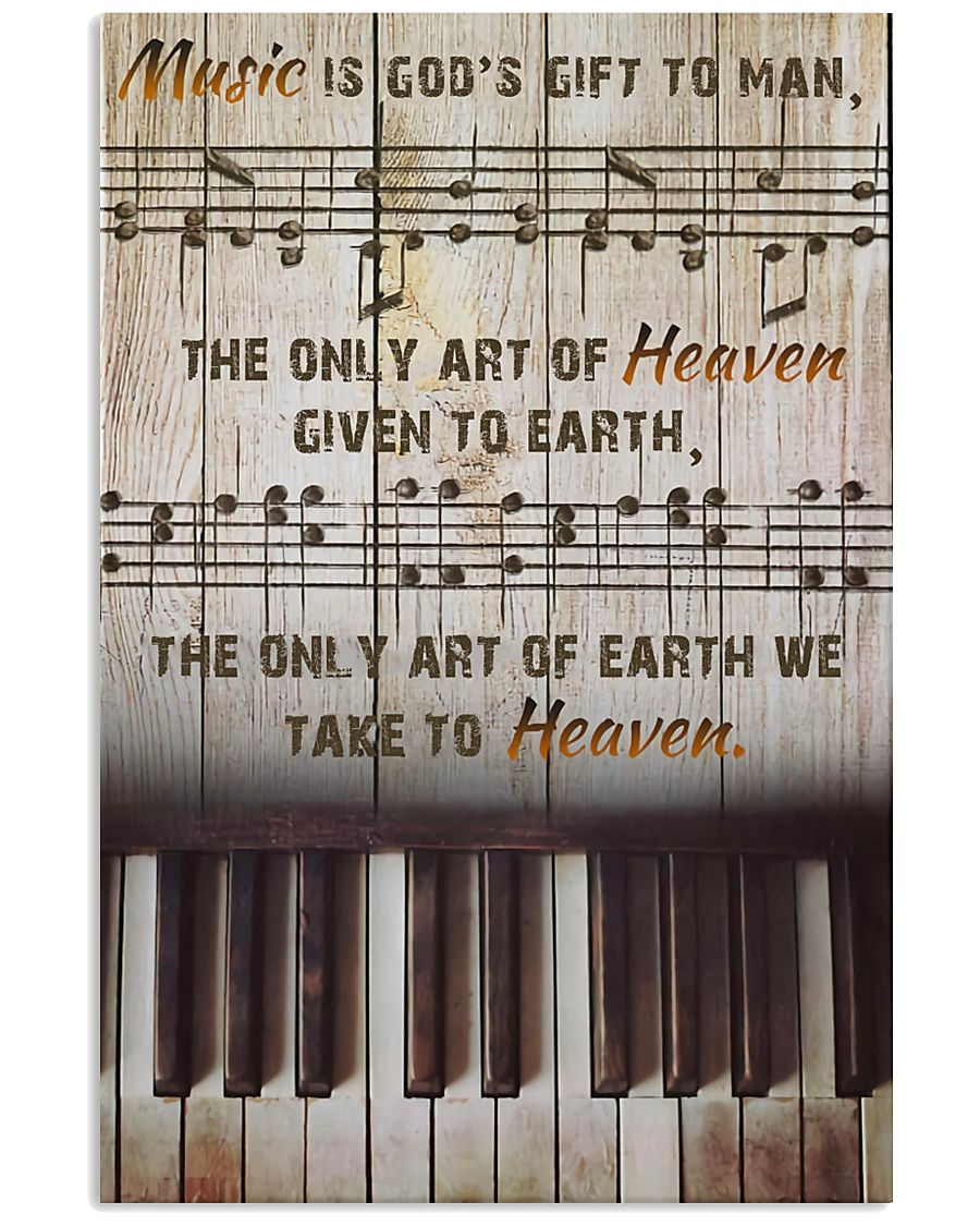 Pianist Music Is God's Gift To Man 11x17 Poster