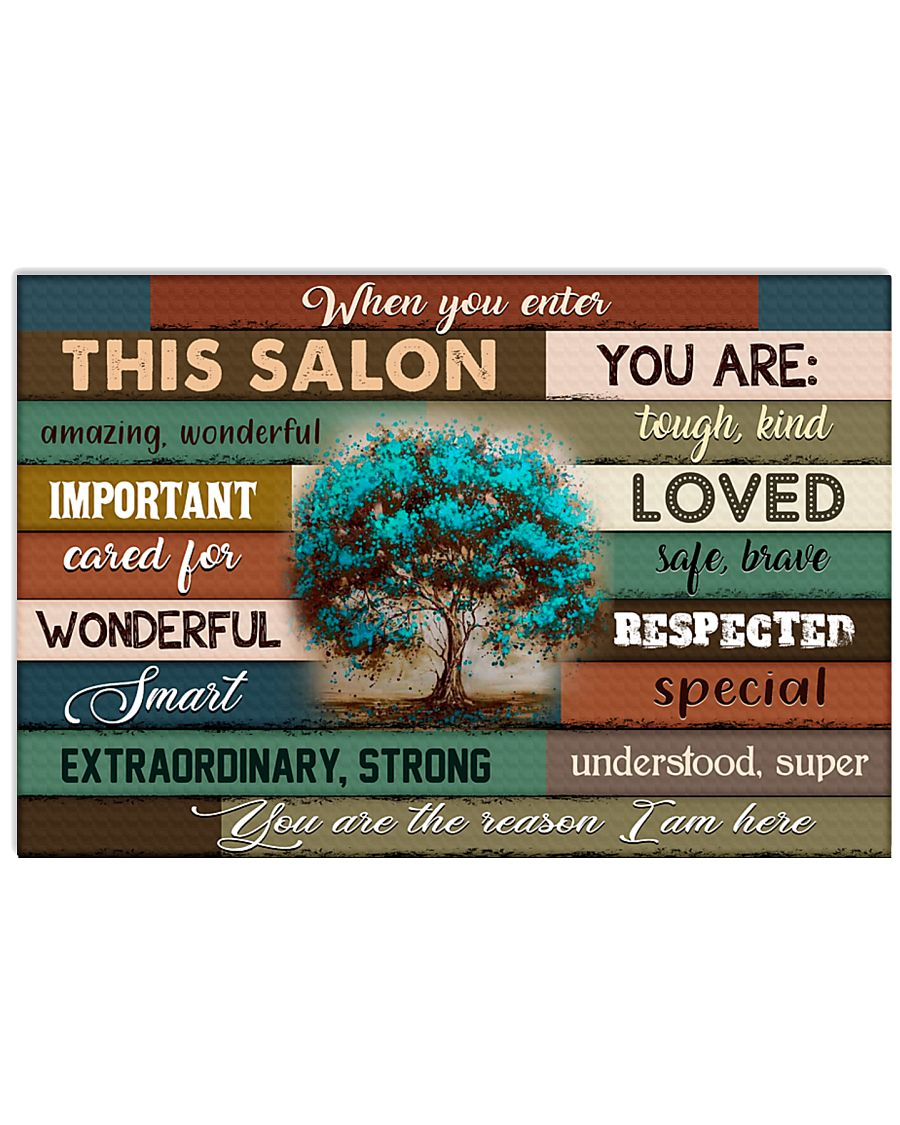This Salon Of Hairdresser 17x11 Poster