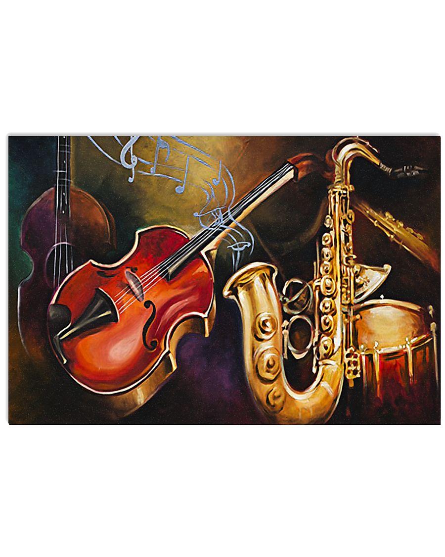 Saxophone Band 17x11 Poster