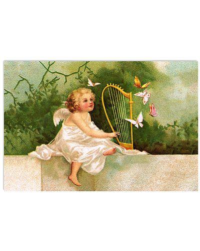 Angel Plays Harp