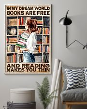 Librarian In My Dream World Reading Make You Thin 24x36 Poster lifestyle-poster-1