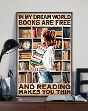 Librarian In My Dream World Reading Make You Thin 24x36 Poster lifestyle-poster-2
