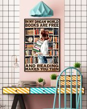 Librarian In My Dream World Reading Make You Thin 24x36 Poster lifestyle-poster-6