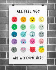 Social Worker All Feelings Are Welcome Here 11x17 Poster aos-poster-portrait-11x17-lifestyle-18