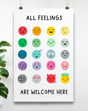 Social Worker All Feelings Are Welcome Here 11x17 Poster aos-poster-portrait-11x17-lifestyle-19