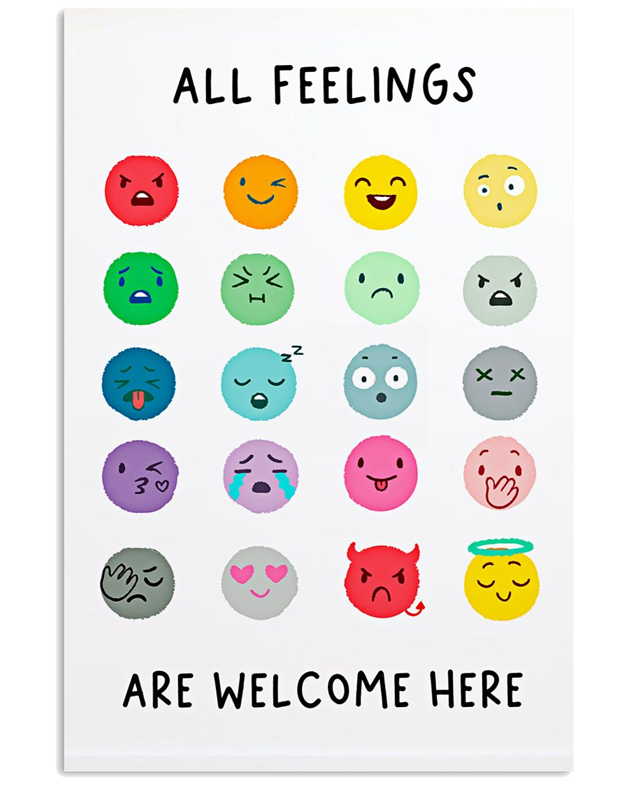 Social Worker All Feelings Are Welcome Here 11x17 Poster