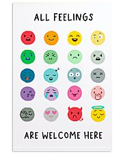 Social Worker All Feelings Are Welcome Here 11x17 Poster front