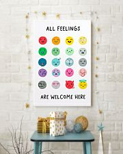 Social Worker All Feelings Are Welcome Here 11x17 Poster lifestyle-holiday-poster-3