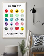 Social Worker All Feelings Are Welcome Here 11x17 Poster lifestyle-poster-1