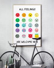 Social Worker All Feelings Are Welcome Here 11x17 Poster lifestyle-poster-7