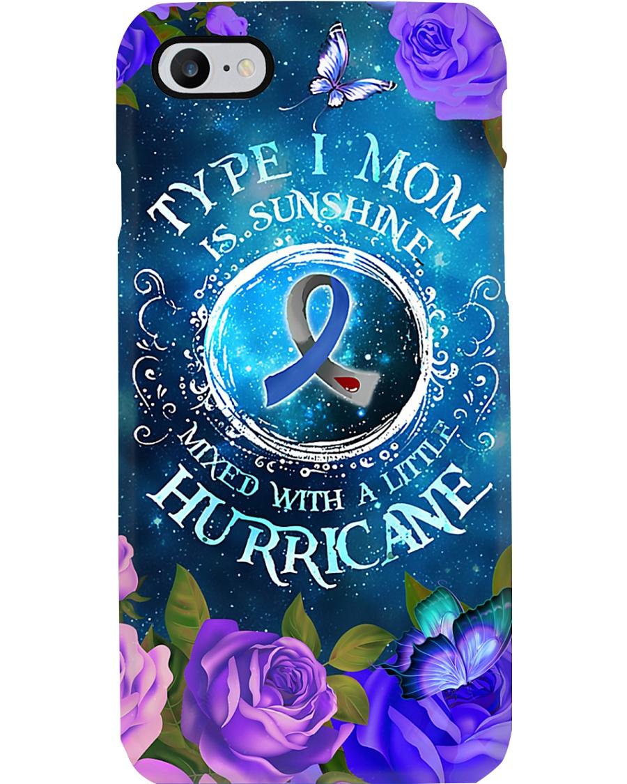 Type 1 Mom Is Sunshine T1D Mom Gift Phone Case