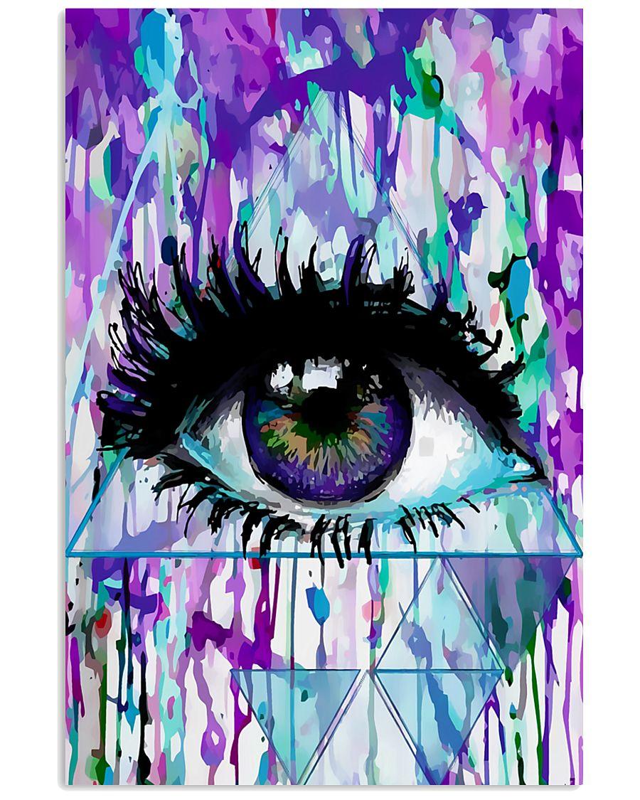 Art Purple Eye Optometrist   11x17 Poster