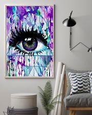 Art Purple Eye Optometrist   11x17 Poster lifestyle-poster-1