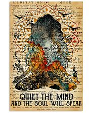 Yoga Quiet the mind and the soul will speak 11x17 Poster front