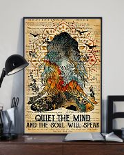 Yoga Quiet the mind and the soul will speak 11x17 Poster lifestyle-poster-2