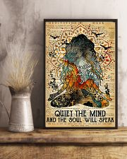 Yoga Quiet the mind and the soul will speak 11x17 Poster lifestyle-poster-3