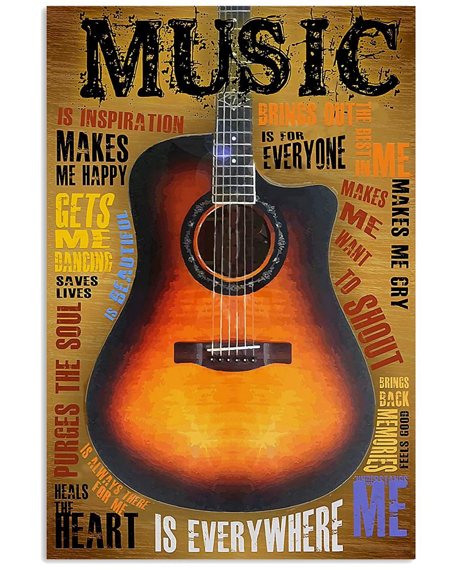 Guitar Music Is Everywhere 11x17 Poster