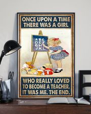 Teacher Girl Loved To Become 11x17 Poster lifestyle-poster-2