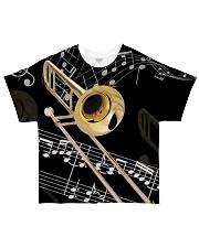 Trombonist Beautiful Trombone All-over T-Shirt front