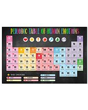 Social Worker Periodic Table Of Human Emotions 17x11 Poster front