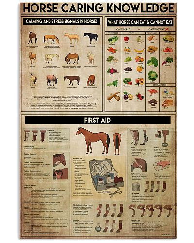 Veterinarian Horse Caring Knowledge Poster