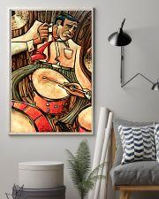 Drummer Gift Vintage Drum Man Art  11x17 Poster lifestyle-poster-1