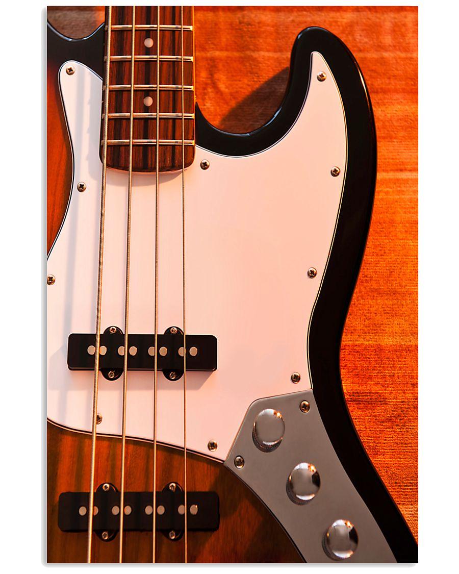 Bass Guitar 4 Strings  11x17 Poster