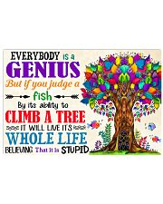 Everybody Is A Genius Teacher 17x11 Poster front